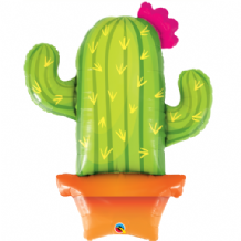 Potted Cactus Large Foil Balloon 1pc